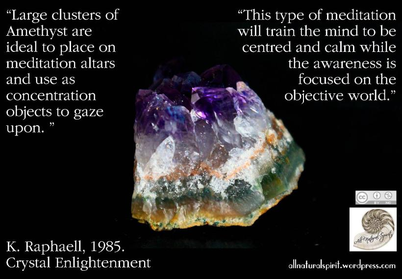 Amethyst meditation K Raphaell Crystal Enlightenment healing meaning properties