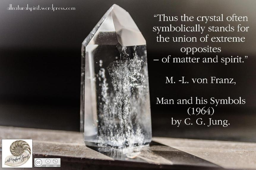 Crystal union of matter and spirit M L von Franz and Carl Jung