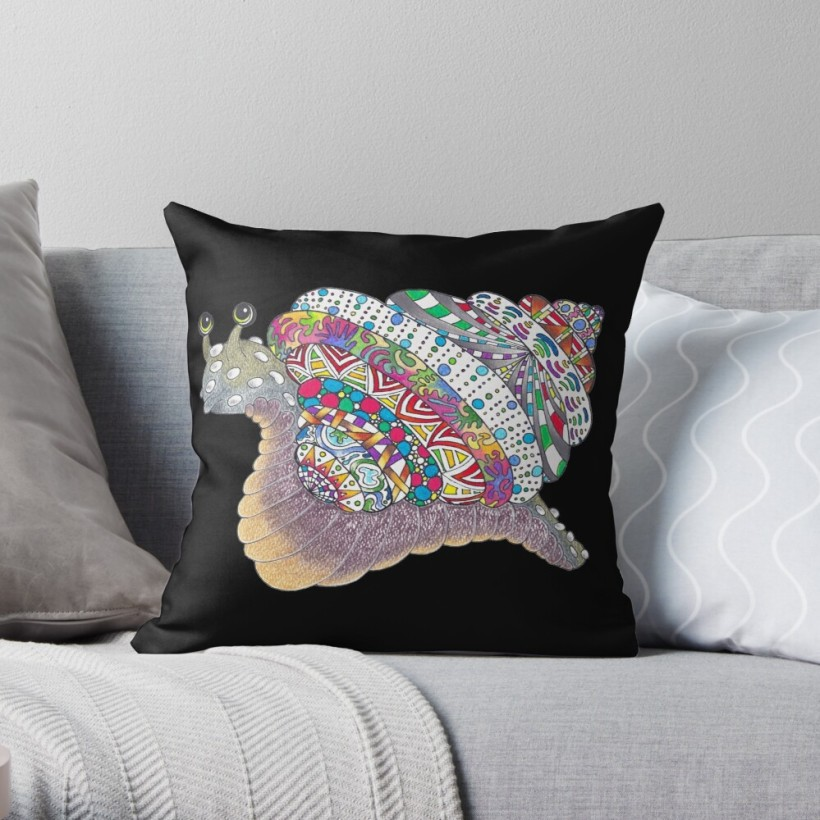 snail alien planet universe outer space whimsical fun rainbow colorful geometric pattern oil pastel tinted charcoal fantasy fairy tale for him for her boy girl bedroom birthday party slug animal mollusc black background