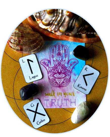 Elder, Futhark, Travel, Runes, Zenned Out, Free, Oracle, Cards, Winter Solstice, Laguz, Kaunan, Gebo, Truth