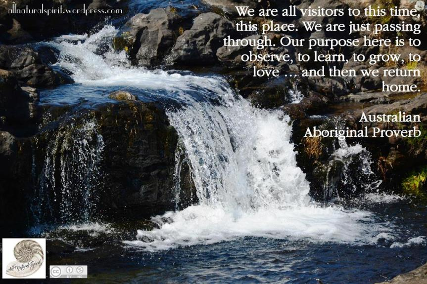 Waterfall, quote, spirit, spiritual, winter, solstice