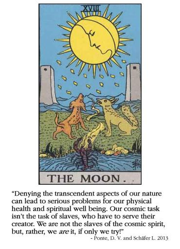 RWS Tarot 18 Moon 1909 Cosmic Spirit All Natural Spirit allnaturalspirit.wordpress