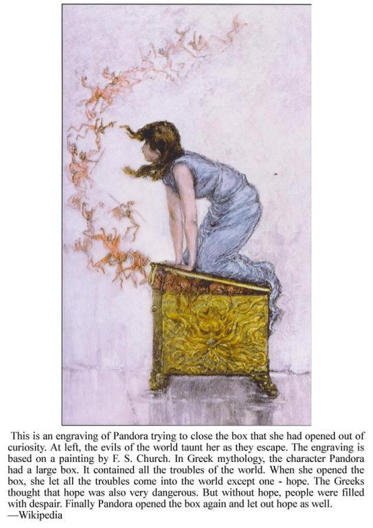 Pandora's Box, Greek Mythology, All Natural Spirit, allnaturalspirit.wordpress, Science