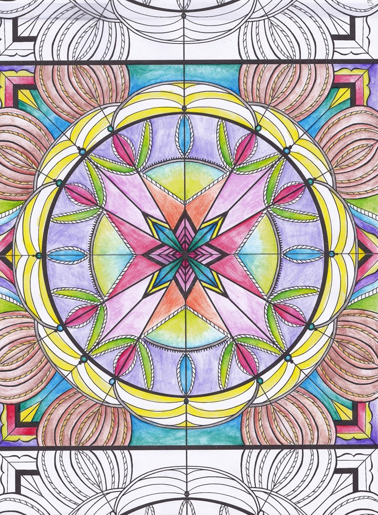 First Nation, Rainbow, Mandala, Art, Design, Free, Wallpaper, hand colored, hand coloured, Background, Download, Mobile, Desktop