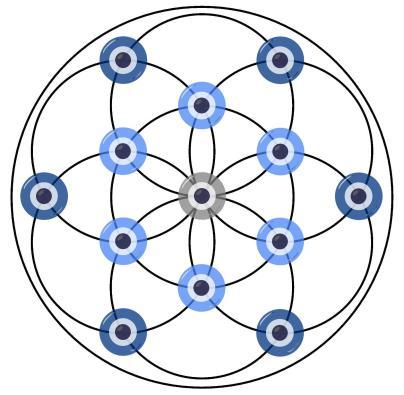 Free, Download, nazar, flower of life, protection, protective, symbol, evil eye, digital, ward, version 1