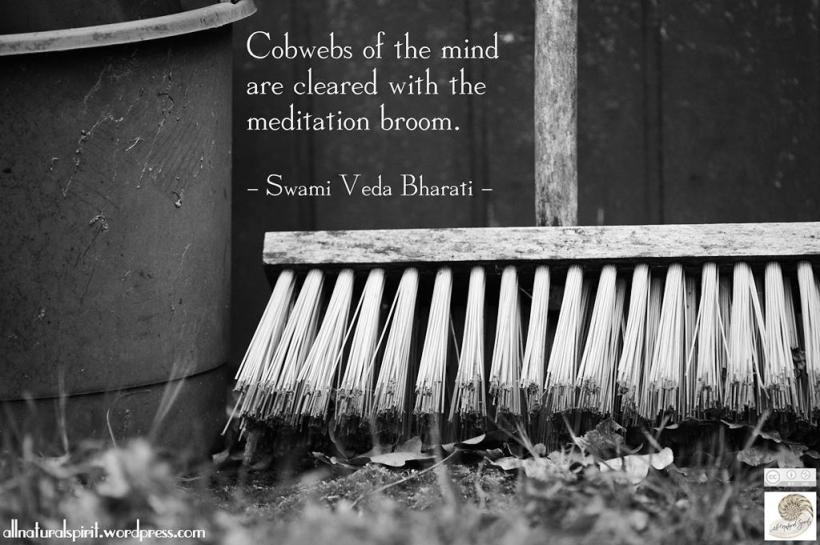 Broom black and white wall floor breath breathe meditation march autumn equinox