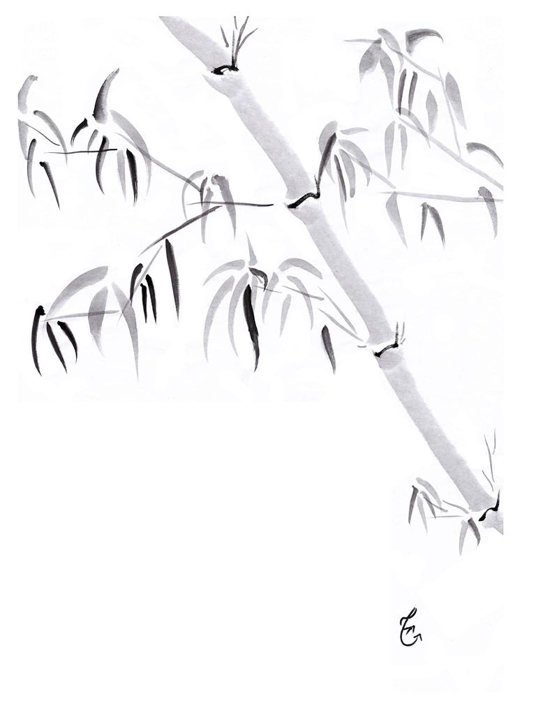 A Meditation in Ink #2: Bamboo Study, One of the Four Gentlemen