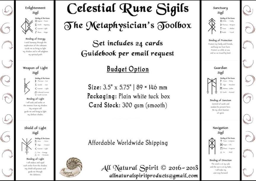 Elder Futhark Rune Oracle Card Decks Mini Bindrune All