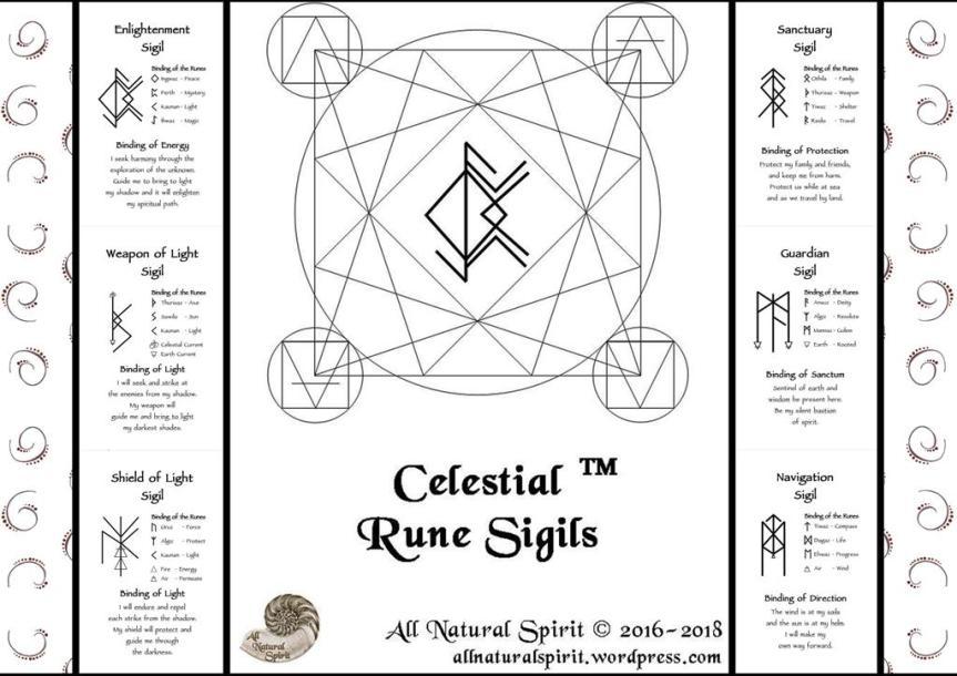 Celestial Bindrune Sigils, Elder, Futhark, bindrune, Anglo, Saxon, Frisian, Viking, Norse, Germanic, Scandinavian, Divination, Oracle, Deck, Cards, Metaphysician, Toolbox, Magick, Galdur, Magic
