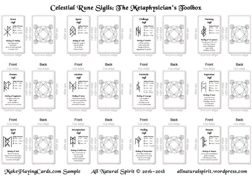 Celestial Sigils Elder Futhark Bindrune Deck MakePlayingCards Sample All Natural Spirit allnaturalspirit.wordpress