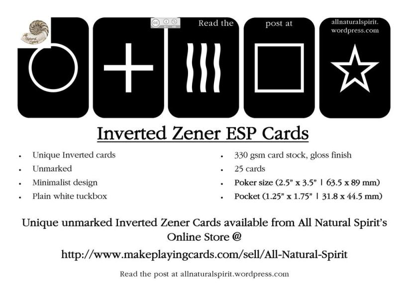 Unmarked, Zener, Black, White, Poker, Pocket, All Natural Spirit, Invert, Inverted, Zenner, Rhine, ESP, PSI, clairvoyance, telepathy, precognition, psychokinesis, Psychic, Medium, Zenner, Deck, telekinetic, paranormal, parapsychology, Cards, Halloween, Psychic, Tarot, Fortune, Future, Telling, Premonition, party, tricks, game