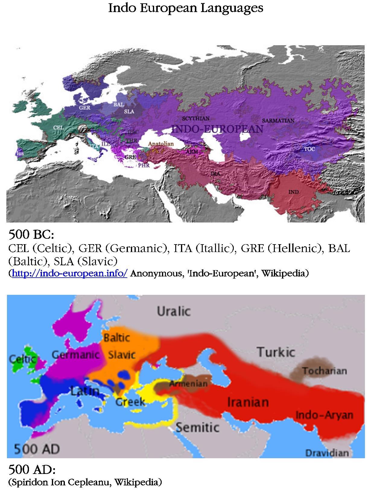 Indo European Languages map 500 BC 500 AD, Runes