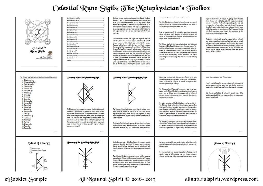Celestial Sigils Elder Futhark Bindrune Deck eBooklet
