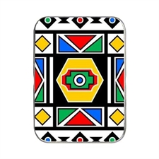 MakePlayingCards, Custom, Design, Oracle, Poker, Card, Tin, Pattern, Tribal, Zulu, Ndbele, South Africa, Africa, Red, Green, Yellow, Blue, White, Black, Rainbow, Nation