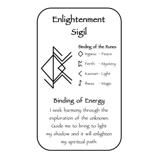 Enlightenment Sigil, Celestial Bindrune Sigils, Elder, Futhark, bindrune, Anglo, Saxon, Frisian, Viking, Norse, Germanic, Scandinavian, Divination, Oracle, Deck, Cards, Metaphysician, Toolbox, Magick, Galdur, Cards Only Option, Bind, Rune