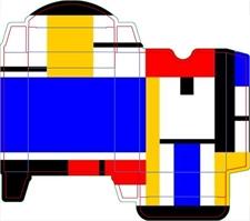 MakePlayingCards, Custom, Design, Oracle, Poker, Card, Box, Art, Red, Black, Yellow, White, Blue, Square, Geometry
