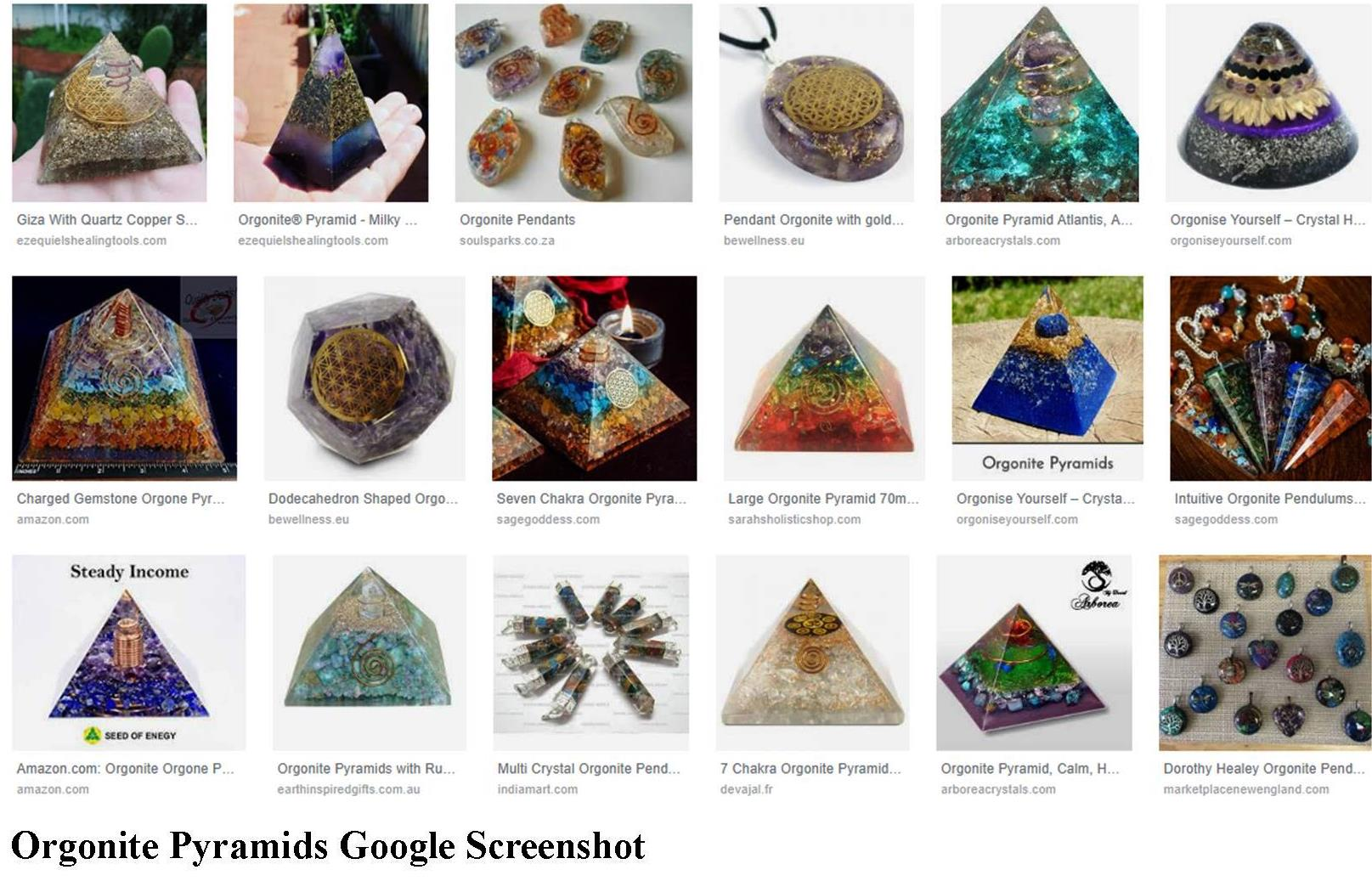 Orgonite, Orgone, Pyramids, Google, Images, Screenshot