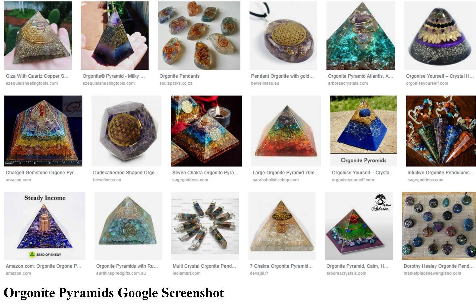 Orgonite, Orgone, Pyramids, Google, Images, Screenshot