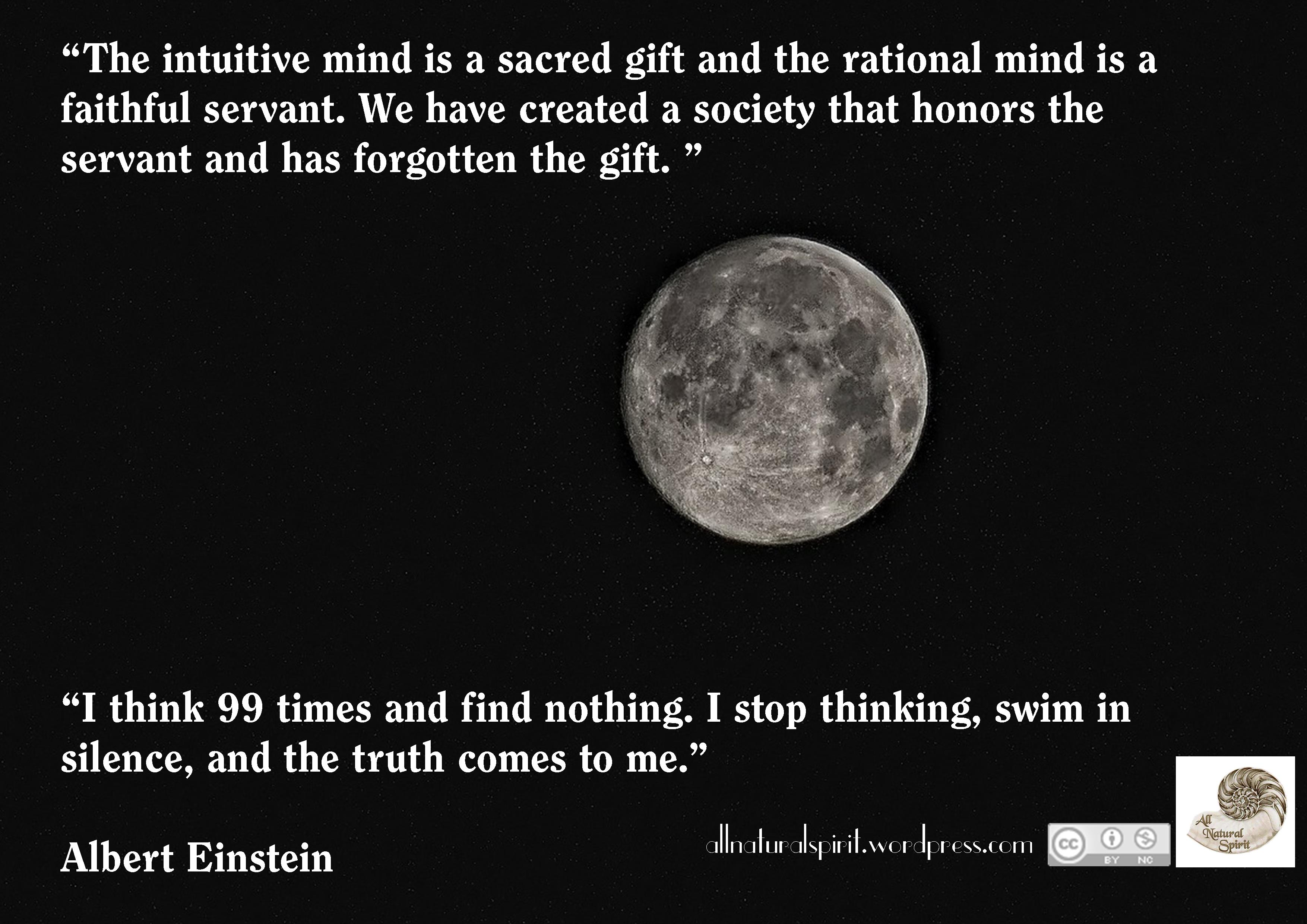 Quote, Albert Einstein, Silence, Mind, Meditation, Mindfulness, Gift