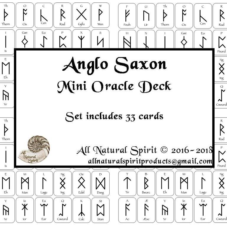 Micro, Small, Germanic, Viking, Norse, Oracle, Spiritual, Divination, Anglo, Saxon, Frisian, Script, Travel, All Natural Spirit, Rune, Elder Futhark, Runes, Mini, Card, Deck, Oracle, Bind, Rune, Cards