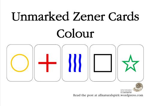 Zener Cards Colour All Natural Spirit, Pocker, Poker, Cards, Unmarked, Halloween, Psychic, Tarot, Fortune, Future, Telling, Premonition, party, tricks, game