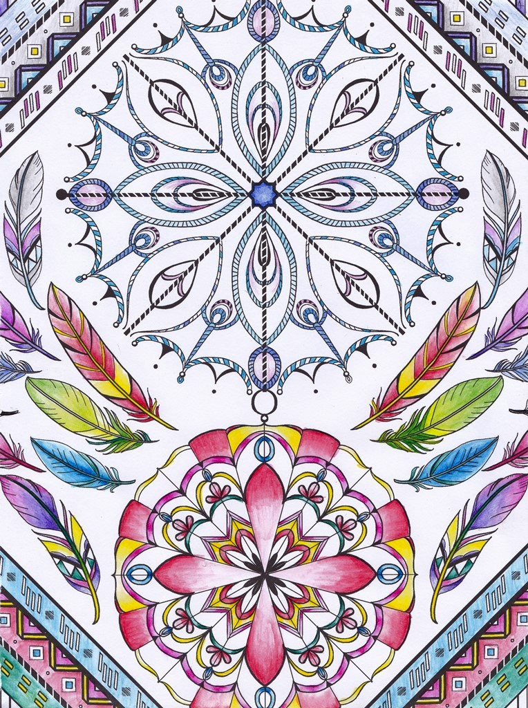 Iced, Rainbow, Mandala, Art, Design, Free, Wallpaper, hand colored, hand coloured, Background, Download, Mobile, Desktop