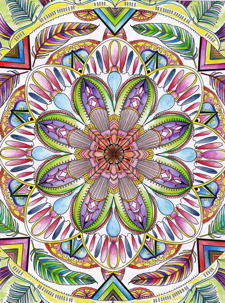 Kaleidoscope, Rainbow, Mandala, Art, Design, Free, Wallpaper, hand colored, hand coloured, Background, Download, Mobile, Desktop