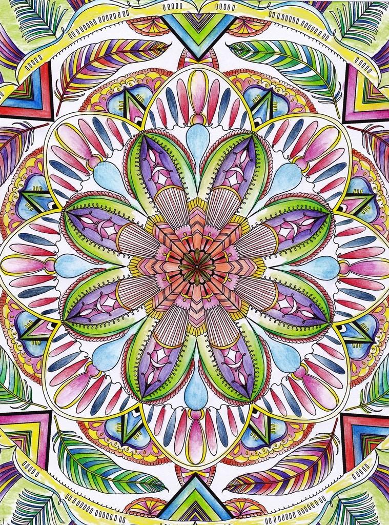 Kaleidoscope, Rainbow, Mandala, Art, Design, Free, Wallpaper, hand colored, hand coloured, Background, Download, Mobile, Desktop
