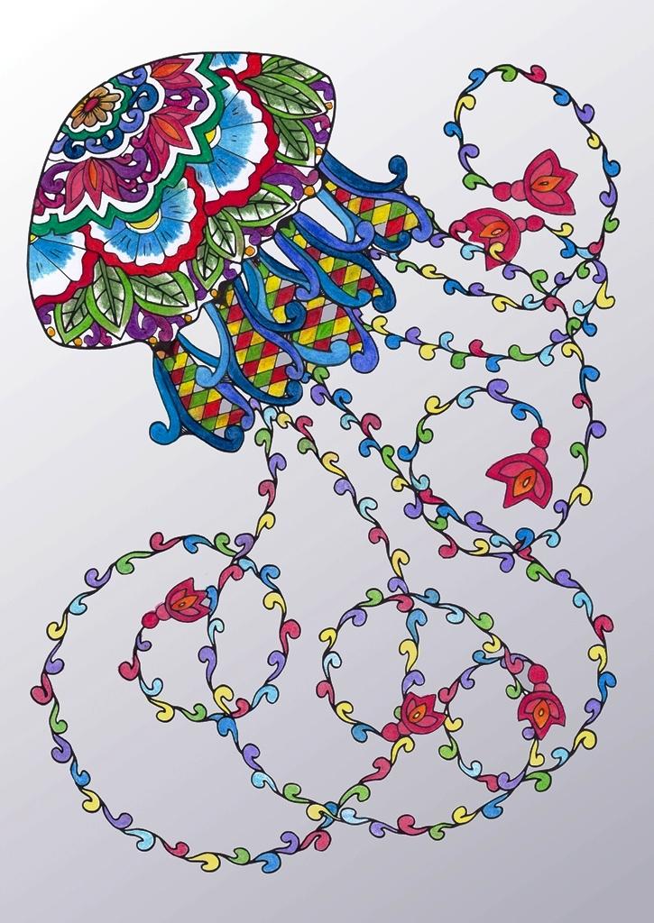 Porcelain, Jelly, Fish, Fauna, Animal, Art, Design, Free, Wallpaper, hand colored, hand coloured, Background, Download, Mobile, Desktop