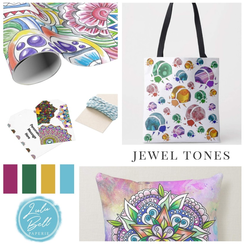 A Collection for the Bohemian Free Spirit - Coordinating Gifts, Apparel and Home Decor. Featuring animals and insects, mandalas, bright boho patterns, zendoodles, and flowers.