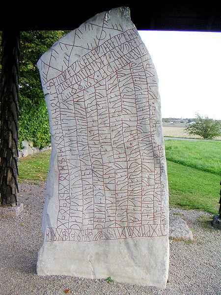 Rökstenen, runestone, Sweden, Younger, Futhark, Runes, Viking, Germanic, Norse, Icelandic, Scandinavian