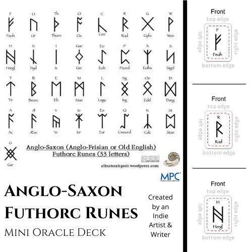 Anglo, Saxon, Futhorc, Mini, Oracle, Deck, Cards, Rune, Runes, Frisian, Old, English, Make Playing Cards, 33 letters