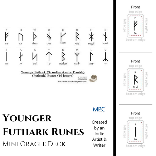 Younger Futhark, Mini, Oracle, Deck, Overview, Cards, Scandinavian, Danish, Futhork, 16 letters, Make Playing Cards