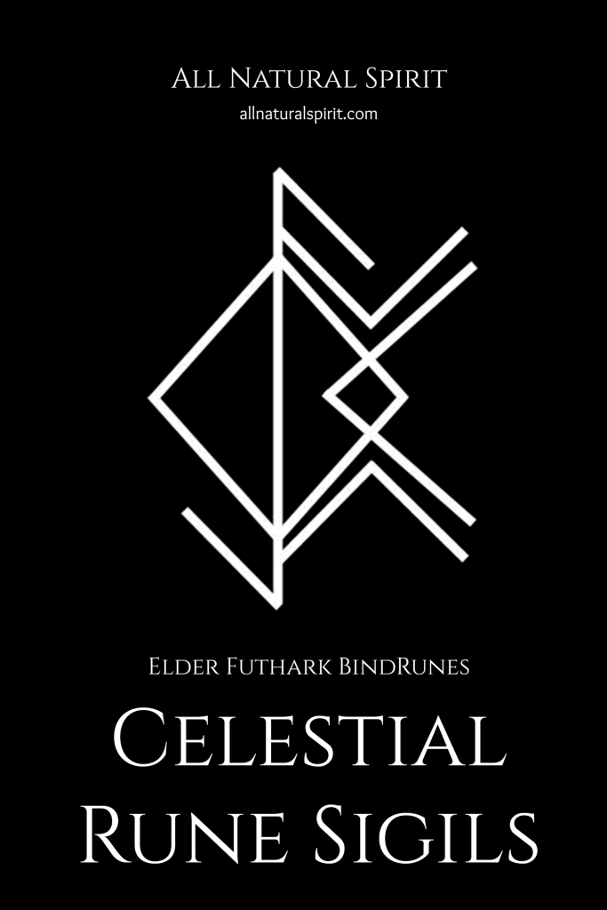 Celestial Rune Sigils, Elder Futhark, BindRunes, Kindle, All Natural Spirit, ebook, paperback, celestial rune sigils