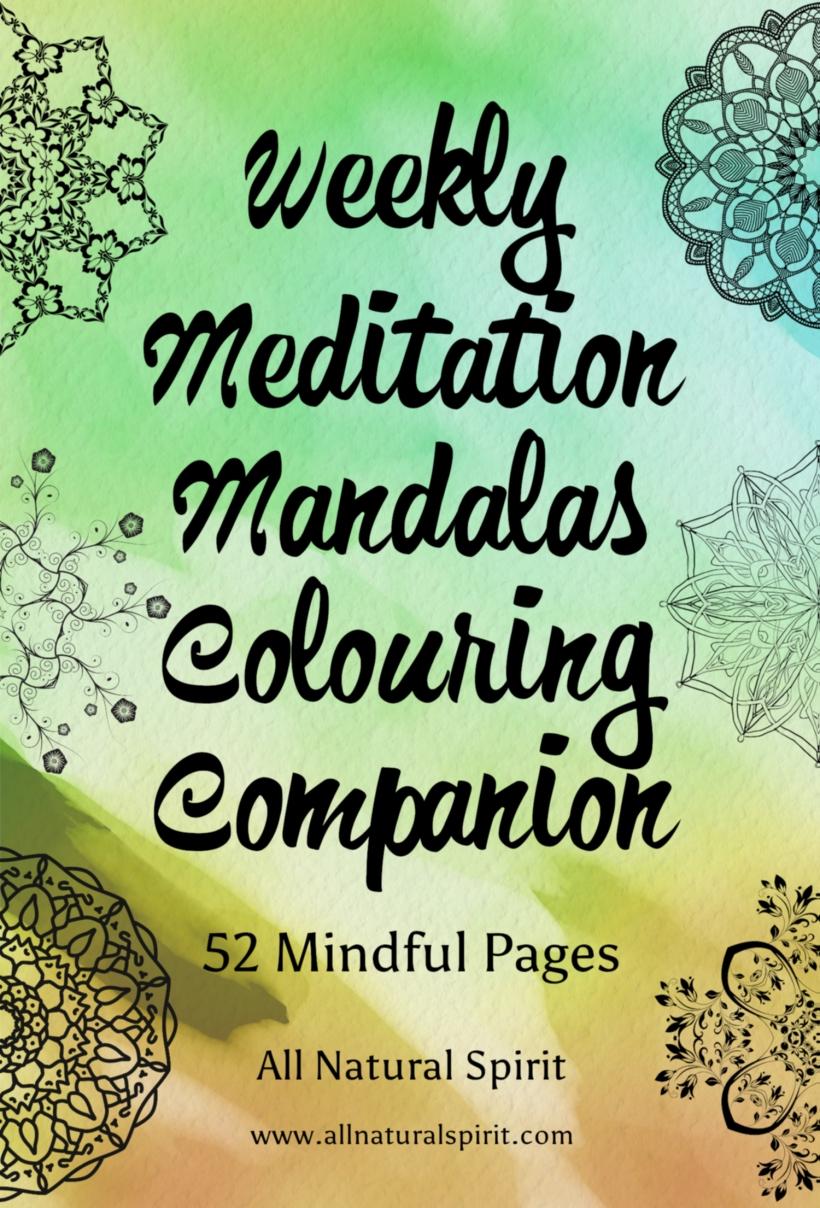 Weekly, Meditation, Mandalas, Colouring, Coloring, Mindful, Pages, Adult coloring book, Adult colouring book, stress management, art therapy