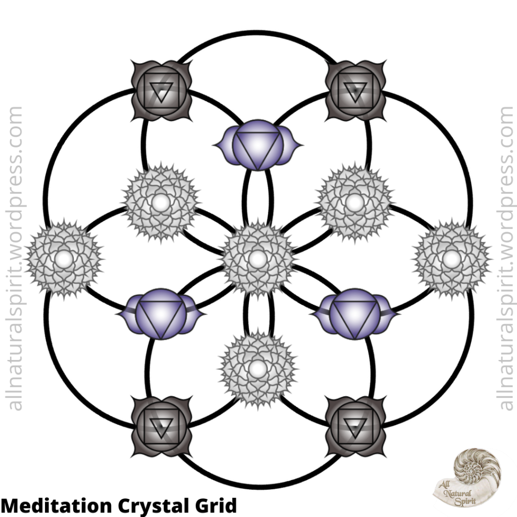 Meditation Chakra  Crystal Grid Seed Of Life  All Natural Spirit
