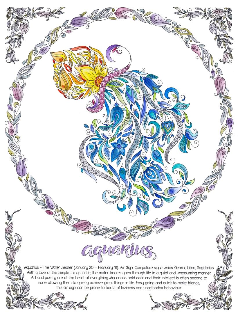 aquarius, january, february, zodiac, 2021, horoscope, astrology, water bearer, pot, water, flowers, air