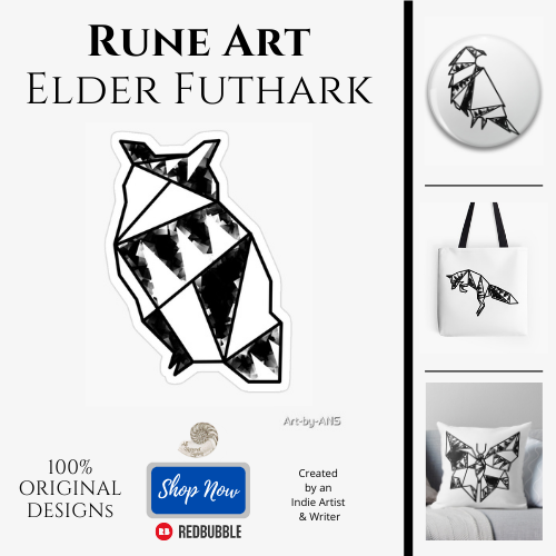 Elder Futhark Rune Art by All Natural Spirit at RedBubble https://www.redbubble.com/people/art-by-ans/shop?artistUserName=Art-by-ANS&collections=1579518&iaCode=all-departments&sortOrder=relevant