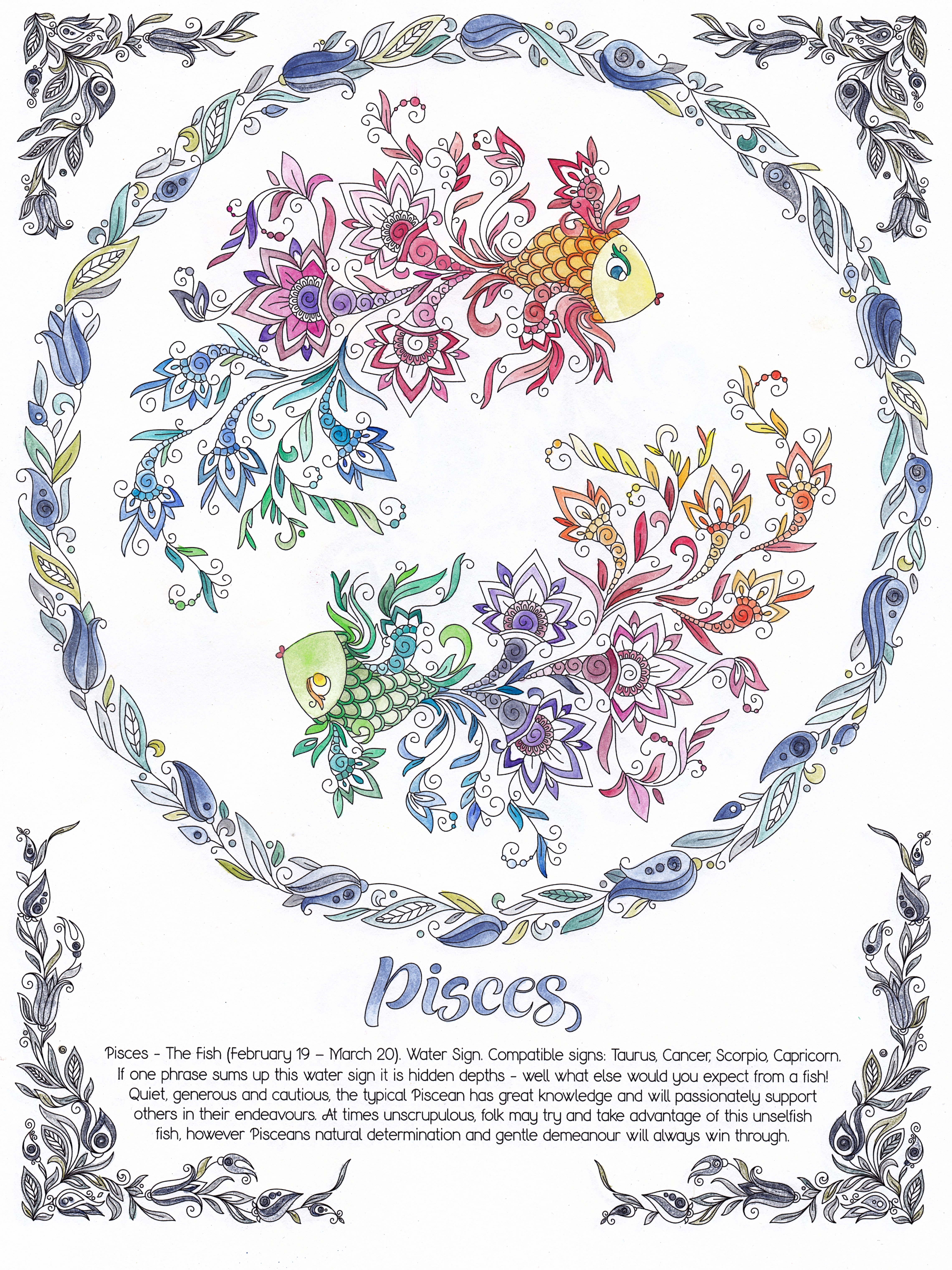 pisces, february, march, fish, zodiac, 2021, horoscope, astrology, flowers, water