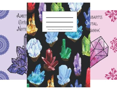 Themed Art Notebooks, Crystals, Crystal Healing & Gem Therapy, Amazon