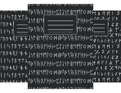 Themed Art Notebooks, Runes, Scripts & Ancient Alphabets, Amazon
